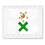 29th Degree Scottish Rite Masonic Apron - [White]