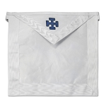 31st Degree with Blue Cross Scottish Rite Masonic Apron - [White]
