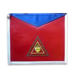 26th Degree Scottish Rite Masonic Apron - [Red & Blue]