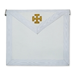 31st Degree with Gold Cross Scottish Rite Masonic Apron - [White]