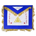14th Degree Fringed Scottish Rite Masonic Apron - [Blue & White]