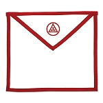 Royal Arch Cloth Duck Cotton Masonic Apron - [Red & White]