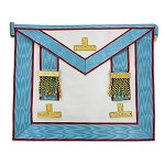Installed Mark Master Masonic Apron - [Light Blue & White]
