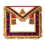 Fringed Principal Member Royal Arch Masonic Apron - [Red & White]