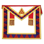 Royal Arch Member Masonic Apron - [Red & White]