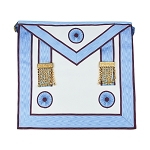 Mark Master Mason Masonic Apron - [Light Blue & White]