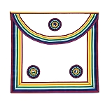 Royal Ark Mariner Masonic Apron - [Rainbow & White]