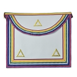 Past Commander Noah Masonic Apron - [Rainbow & White]