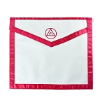 Royal Arch Cloth Duck Cotton with Satin Border Masonic Apron - [Red & White]
