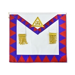 Royal Arch with White Tassels Masonic Apron - [Red Blue & White]