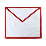 Royal Arch Cloth Duck Cotton without Emblem  Masonic Apron - [Red & White]
