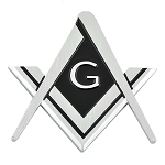Square & Compass ABS Plastic Masonic Auto Emblem - [Chrome][3