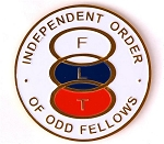 Odd Fellows Round Masonic Auto Emblem - [White & Gold][3'' Diameter]