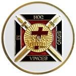 Cryptic Council Round Purple Masonic Auto Emblem 3 Diameter The Masonic Exchange TME-EMB-00037