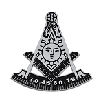 Past Master Masonic Auto Emblem - [Black & Silver][3'' Tall]