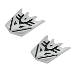 Transformer Decepticon Pair Chrome Finish PVC Auto Emblems - 1