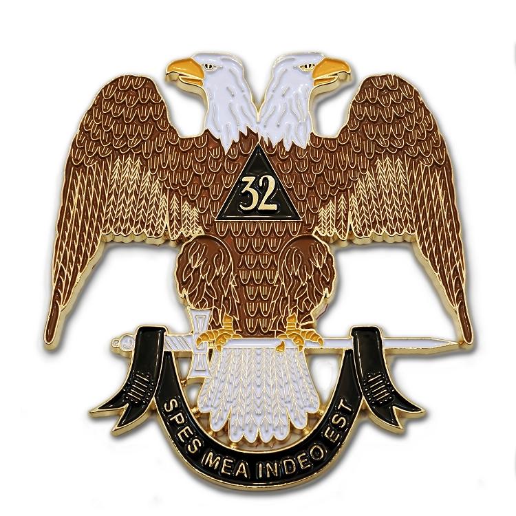 3 Diameter 32nd Degree Scottish Rite Masonic Round Blue Auto Emblem