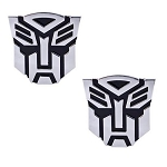 Transformer Autobot Pair Auto Emblem - [Chrome][1'' Tall]