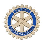 Rotary International Round Masonic Auto Emblem - [Gold & Blue][3'' Diameter]