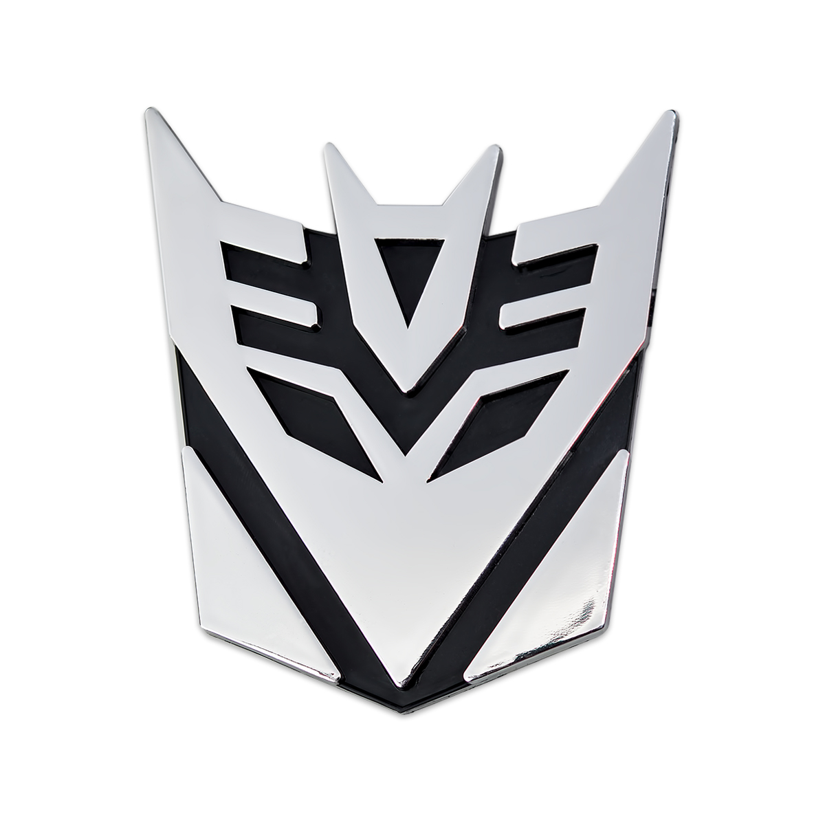 3 Tall Transformers Decepticon Chrome Auto Emblem