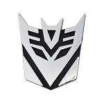 Transformer Decepticon Auto Emblem - [Chrome][3'' Tall]
