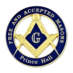 Free and Accepted Masons Prince Hall Round Blue Car Auto Emblem - 3