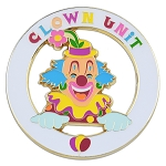 Shriner Clown Unit Flower Round Masonic Auto Emblem - [White & Gold][3'' Diameter]