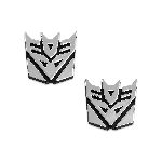 Transformer Decepticon Chrome Finish Pair Auto Emblems - 1 1/2