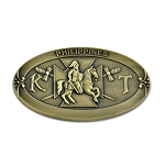 Philippines Knights Templar Crusader Masonic Auto Emblem - [Brass][3 1/2'' Wide]