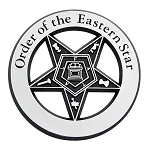 Order of the Eastern Star ABS Plastic Masonic Auto Emblem - [Chrome][3'' Diameter]