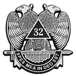 32nd Degree Scottish Rite ABS Plastic Masonic Auto Emblem - [Chrome][3'' Tall]