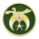 Shriner Masonic Auto Emblem - [Green & Gold][2