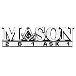 2B1 ASK1 Masonic Auto Emblem - [Chrome][9'' Wide x 2 1/2'' Tall]