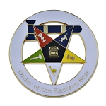 Order of the Eastern Star Matron Masonic Auto Emblem - [White & Gold][3
