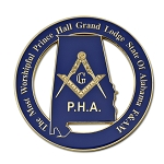 The Most Worshipful Prince Hall Grand Lodge State of Alabama F&AM Blue Masonic Auto Emblem - 3