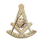 Past Master Masonic Auto Emblem - [Gold][3'' Tall]