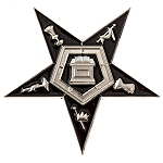 Order of the Eastern Star Masonic Auto Emblem - [Silver & Black][3'' Tall]