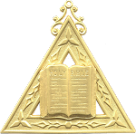 Chaplain Royal Arch Masonic Officer Jewel - [Gold] - RAC-11