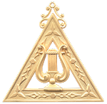 Musician Royal Arch Masonic Officer Jewel - [Gold] - RAC-15