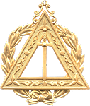 Grand Veil Royal Arch Grand Chapter Masonic Officer Jewel - [Gold] - RAC-26