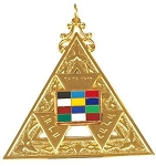 Past High Priest Miniature Royal Arch Masonic Officer Breast Jewel - [Gold] - RAC-33