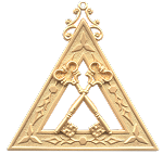 Treasurer Royal Arch Masonic Officer Jewel - [Gold] - RAC-5