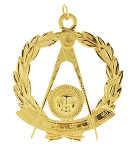 Past Master Wreathed Grand Lodge Masonic Officer Jewel - RBL-107