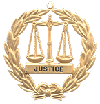 Grand Justice Grand Lodge Masonic Officer Jewel - [Gold] - RBL-117
