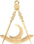 District Deputy Grand Master Grand Lodge Masonic Officer Jewel - [Gold] - RBL-157