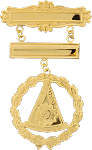 Past Master Miniature Grand Lodge Masonic Officer Breast Jewel - [Gold] - RBL-166