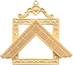 Worshipful Master's Square Square Blue Lodge Masonic Officer Jewel  - RBL-20