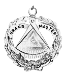 Grand Master Grand Lodge Masonic Officer Jewel  - RBL-32