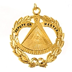 Deputy Grand Master Grand Lodge Masonic Officer Jewel  - RBL-34