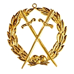 Grand Sentinel / Inner Guard Grand Lodge Masonic Officer Jewel  - RBL-45